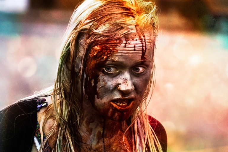 blood drenched zombie