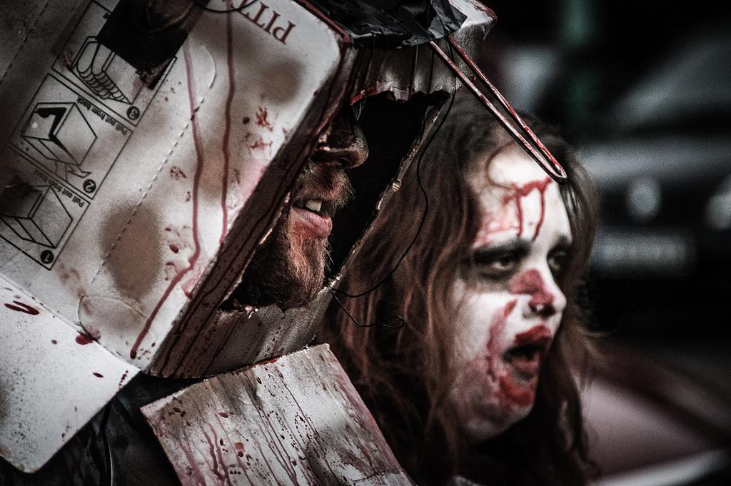 cardboard box zombie
