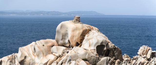A nuraghe at Capo Testa in Sardinia