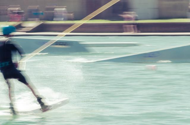 me random dude wake boarding at Hove Lagoon